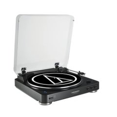 Audio Technica AT-LP60BKBT Fully Automatic Wireless Belt-Drive Stereo Turntable, Black