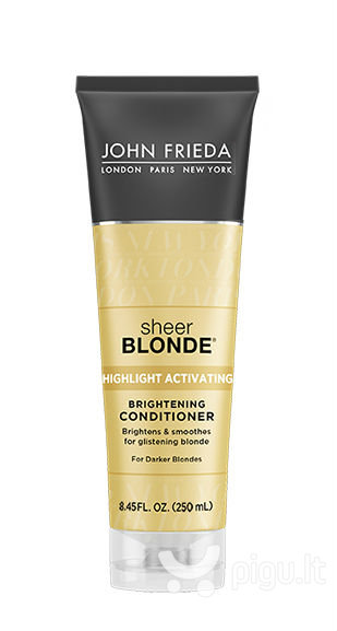 Kondicionierius šviesiaplaukėms John Frieda Sheer Blonde Highlight Activating For Darker Blondes 250 ml kaina ir informacija | Balzamai, kondicionieriai | pigu.lt