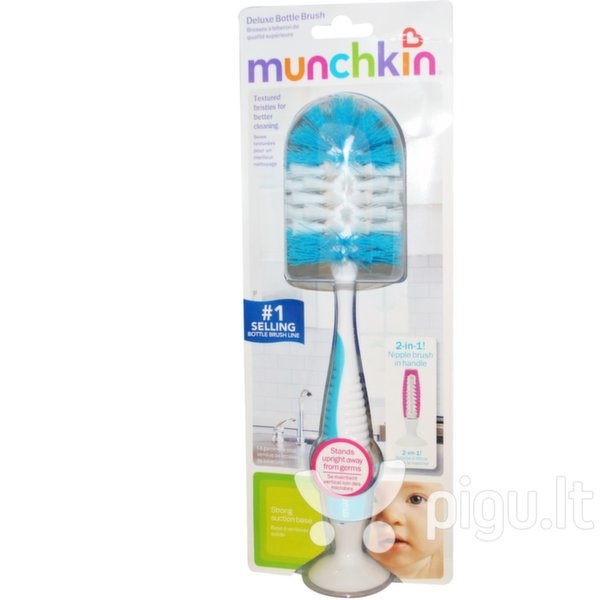 Buteliukų šepetys Munchkin Deluxe kaina ir informacija | Maitinimo priemonės | pigu.lt