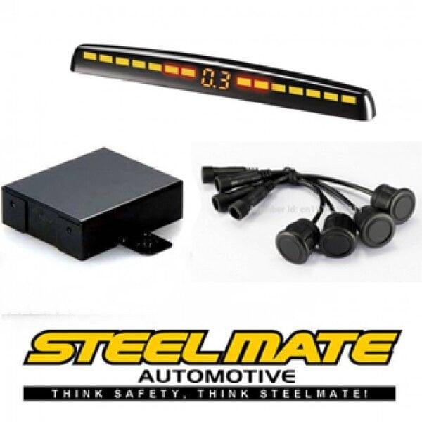 Parkavimo sistema priekiui Steelmate PTS400M5-Front su M5 ekranu kaina ir informacija | Parkavimo sistemos | pigu.lt