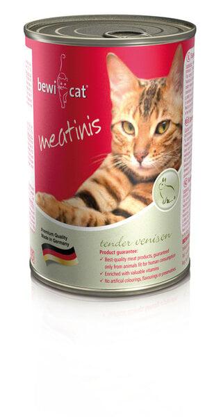 Bewi Cat Meatinis Venison, 400 g kaina ir informacija | Konservai katėms | pigu.lt