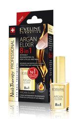 Regeneruojamasis nagų ir odelių aliejus Eveline Cosmetics Nail Therapy Professional Argan Elixir 8 in 1 kaina ir informacija | Nagų lakai, stiprintojai | pigu.lt