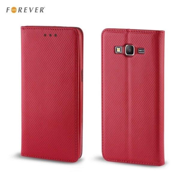 Apsauginis dėklas Forever Smart Magnetic Fix Book skirtas Apple iPhone 5/5S/SE, Raudonas kaina ir informacija | Telefono dėklai | pigu.lt