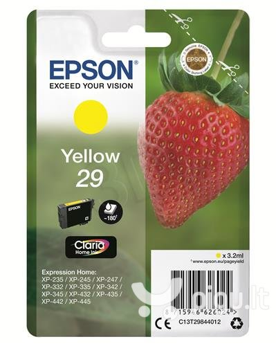 Rašalas Epson Singlepack Yellow 29 Claria Home Ink 3,2 ml