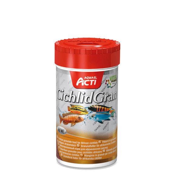 "Aquael Acti ""CichlidGran"" pašaras Mbuna Cichlids rūšies žuvims (granulėmis), 250ml kaina ir informacija | Maistas žuvims | pigu.lt"