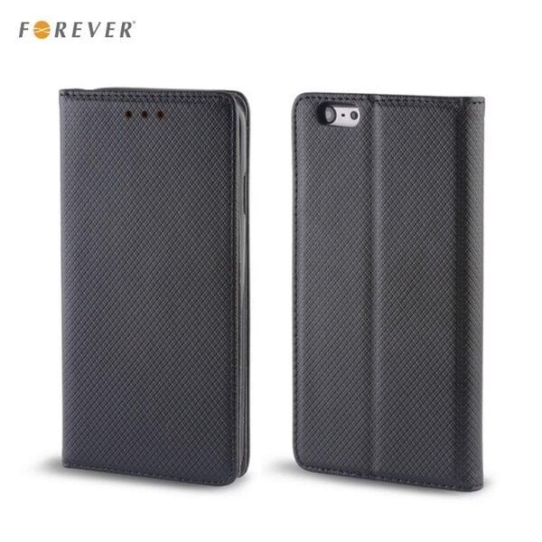Apsauginis dėklas Forever Smart Magnetic Fix Book skirtas Samsung Galaxy J7 (J710F), Juodas kaina ir informacija | Telefono dėklai | pigu.lt