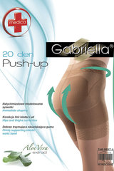 Pėdkelnės moterims Gabriella Medica Push-up 20 DEN, juodos spalvos