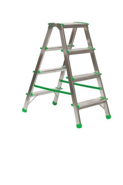 Buitinės dvipusės kopėčios, 4 pakopų kaina ir informacija | Buitinės kopėčios, rampos | pigu.lt
