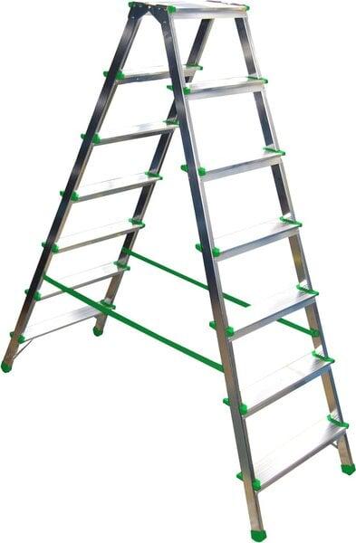 Buitinės dvipusės kopėčios, 7 pakopų kaina ir informacija | Buitinės kopėčios, rampos | pigu.lt