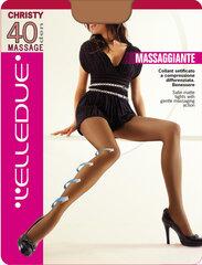 Pėdkelnės moterims Elledue Christy Massage 40 DEN, rudos spalvos kaina ir informacija | Pėdkelnės, kojinės moterims | pigu.lt