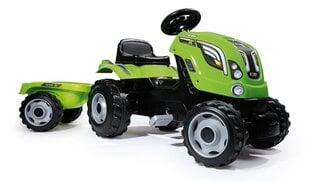 Minamas traktorius su priekaba Smoby Farmer XL, žalias