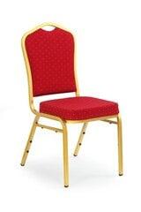 Kėdė Halmar K-66, banketams/valgomajam, raudona/auksinė kaina ir informacija | Virtuvės ir valgomojo kėdės | pigu.lt
