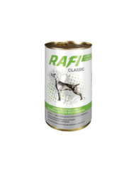 Rafi Classic su morkomis ir žvėriena padaže, 1,25 kg kaina ir informacija   Konservai šunims   pigu.lt