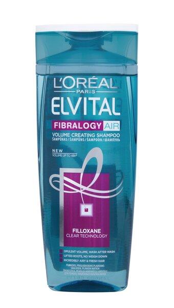 Apimties suteikiantis šampūnas L'oreal Paris Elvital Fibralogy Air 250 ml kaina ir informacija | Šampūnai | pigu.lt