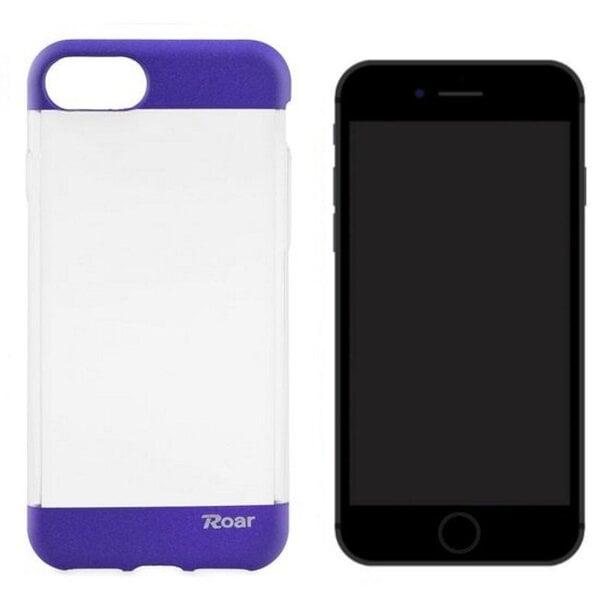 Apsauginis dėklas Roar Fit Up Jelly skirtas Apple iPhone 7, Skaidrus/Violetinis kaina ir informacija | Telefono dėklai | pigu.lt