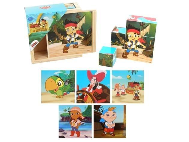 Medinės kaladėlės-dėlionė Džekas ir piratai Niekados Šalyje kaina ir informacija | Žaislai kūdikiams | pigu.lt