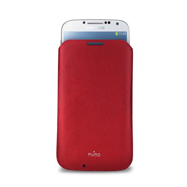 Apsauginis dėklas Samsung Galaxy S4 telefonams Puro PCSLIMGALAXYS4RED kaina ir informacija | Telefono dėklai | pigu.lt