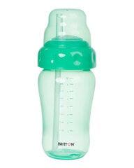 Nelašantis buteliukas su šiaudeliu BRITTON, 270 ml, žalias