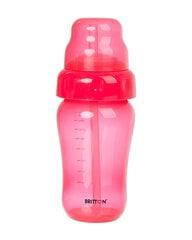 Nelašantis buteliukas su šiaudeliu BRITTON, 270 ml, raudonas kaina ir informacija | Maitinimo priemonės | pigu.lt