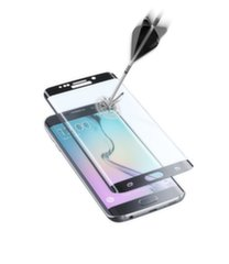 Samsung Galaxy S6 Edge curved screen GLASS by Cellular Black