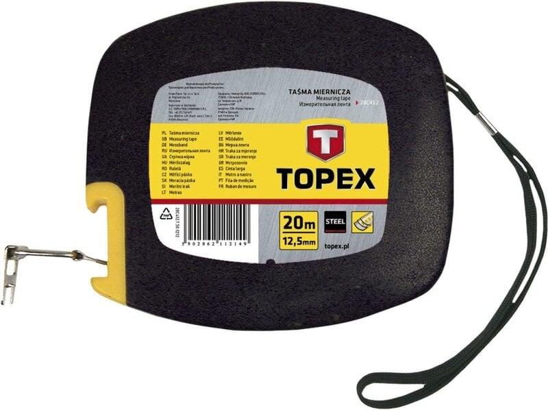 Ruletė metalinė 12,5 mm Topex 20m kaina ir informacija | Mechaniniai įrankiai | pigu.lt