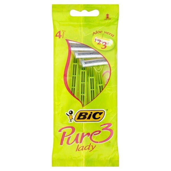 Vienkartiniai skustuvai moterims Bic Pure 3 Lady Disposable 4 vnt. kaina ir informacija | Skutimosi priemonės ir kosmetika | pigu.lt