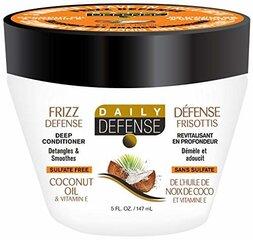 Atstatomoji kaukė plaukams su kokosų aliejumi Daily Defense 3 Minute 295 ml kaina ir informacija | Atstatomoji kaukė plaukams su kokosų aliejumi Daily Defense 3 Minute 295 ml | pigu.lt
