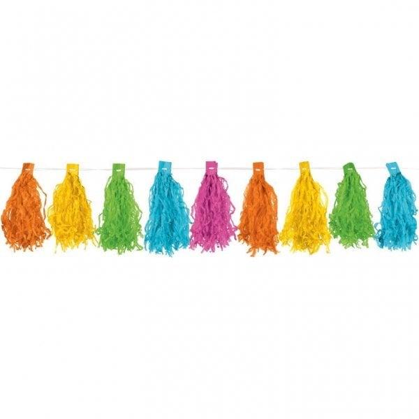Kutosų girlianda, įvairiaspalvė (3 m) kaina ir informacija | Dekoracijos, indai šventėms | pigu.lt