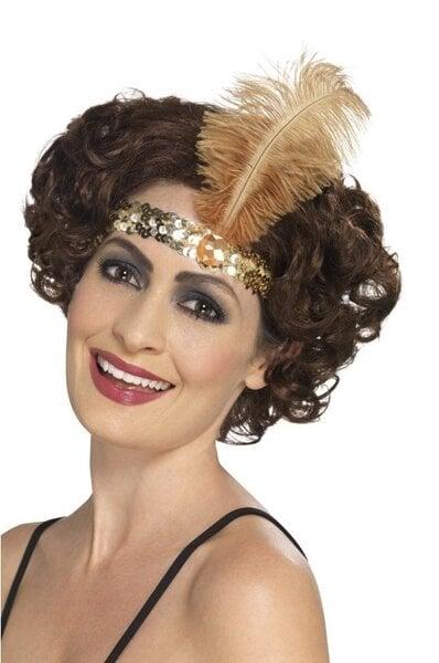 Retro galvos juosta, auksinė kaina ir informacija | Karnavaliniai kostiumai | pigu.lt