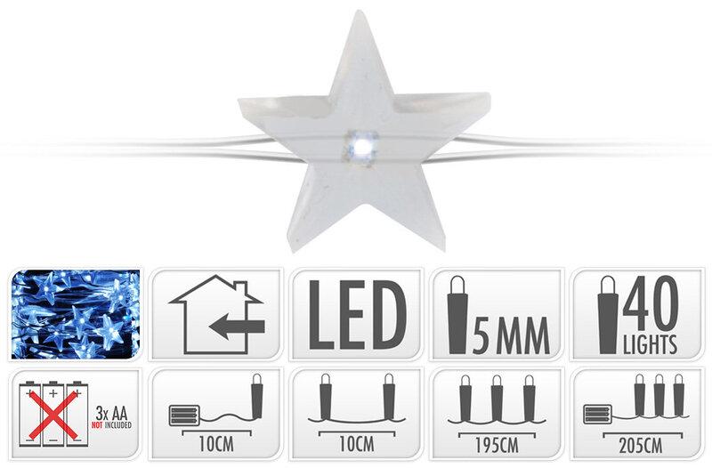 Kalėdinė girlianda, 40 LED kaina ir informacija | Girliandos | pigu.lt