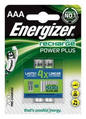 Батарейки ENERGIZER Power Plus, AAA, HR03, 1,2 V, 700mAh, 2 gab. цена и информация | Батарейки | pigu.lt