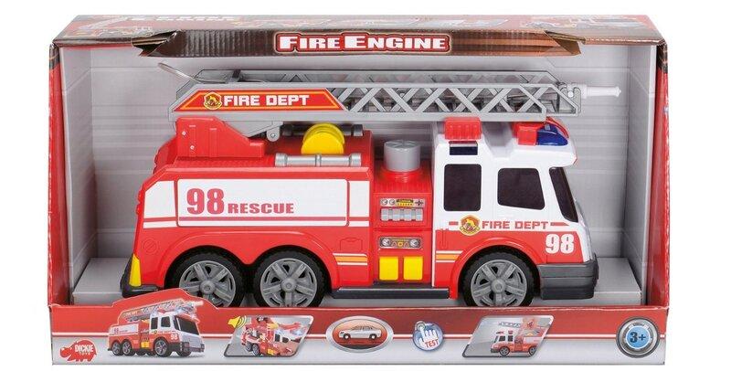 Ugniagesių automobilis su vandens srove Dickie Toys, 36 cm kaina ir informacija | Žaislai berniukams | pigu.lt
