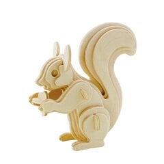 "3D medinė dėlionė ""Spalvota voverė"", 20 d., 41640 kaina ir informacija | Konstruktoriai ir kaladėlės | pigu.lt"