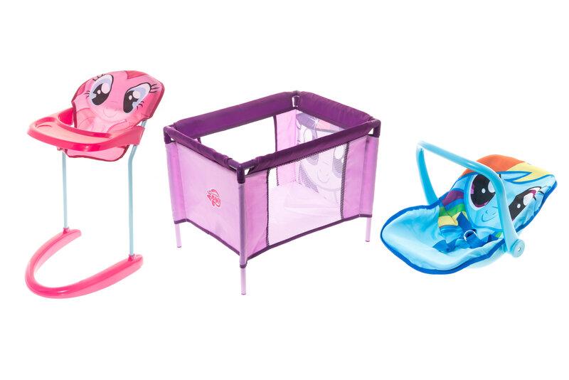 Rinkinys lėlei: maniežas, maitinimo ir automobilinė kėdutė My Little Pony kaina ir informacija | Žaislai mergaitėms | pigu.lt