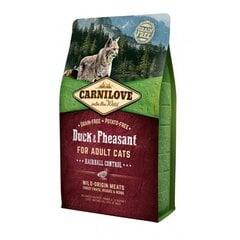 Carni Love su antiena ir fazaniena, kailio gumulėliams šalinti, 6 kg kaina ir informacija | Sausas maistas katėms | pigu.lt