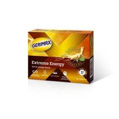 Maisto papildas Gerimax Extreme Energy, 30 tab kaina ir informacija | Vitaminai, maisto papildai, preparatai gerai savijautai | pigu.lt