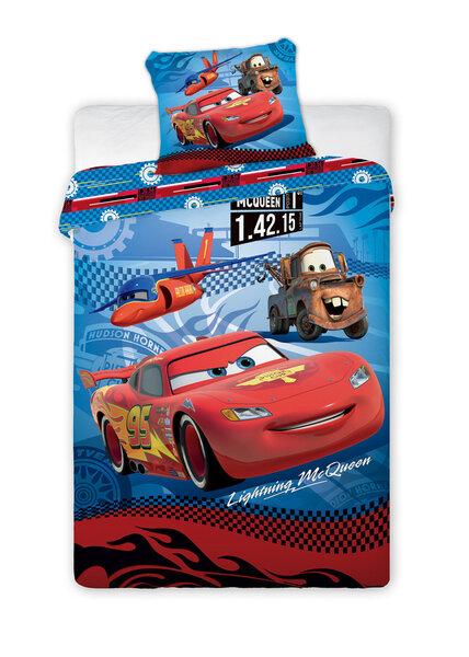 Vaikiškas patalynės komplektas Cars, 2 dalių kaina ir informacija | Patalynė kūdikiams, vaikams | pigu.lt