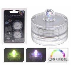 LED žvakė, 2 vnt. kaina ir informacija | Kalėdinės dekoracijos, eglutės žaisliukai | pigu.lt