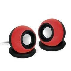 Gembird Stereo Speakers 2.0 Kolonėlės, Raudonos