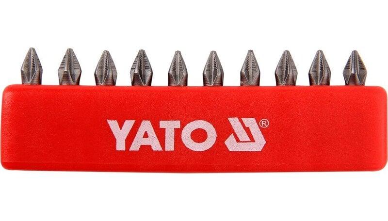 """Atsuktuvo antgalių rinkinys Yato PH1x25mm 1/4"""", 10vnt."""