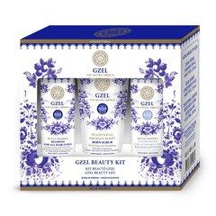 Rinkinys Natura Siberica Gzel: šampūnas 250 ml + balzamas 250 ml + šveitiklis kūnui 200 ml