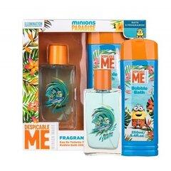 Rinkinys Minions Minions Paradise: EDT vaikams 75 ml + vonios putos 250 ml