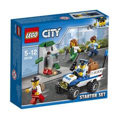 Konstruktorius LEGO® City Policijos rinkinys pradedantiesiems 60136 kaina ir informacija | Konstruktoriai ir kaladėlės | pigu.lt