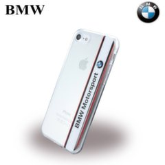 BMW BMHCP7TVWH Vertical Logo Silicone Super Thin back case Apple iPhone 7 4.7inch Transparent/White kaina ir informacija | Telefono dėklai | pigu.lt