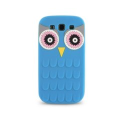 Forcell Soft Silicone 3D Back Case Samsung A310F Galaxy A3 Blue Owl