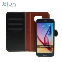 Blun Twin 2in1 Eco Leather Book Case and Magnetic Back Cover Huawei Ascend Y3 II (2016) Black