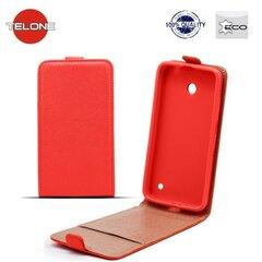Telone Shine Pocket Slim Flip Case Samsung A520 Galaxy A5 (2017) vertical book case Red kaina ir informacija | Telefono dėklai | pigu.lt