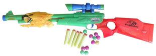 Žaislinis šautuvas su minkštomis strėlėmis ir kulkomis