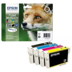 EPSON T1285 ink cartridge black and tri-colour standard capacity 5.9ml and 3 x 3.5ml 4-pack blister without alarm kaina ir informacija | EPSON T1285 ink cartridge black and tri-colour standard capacity 5.9ml and 3 x 3.5ml 4-pack blister without alarm | pigu.lt