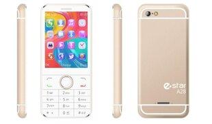 eStar A28, Dual Sim, Gold, LT, EN, LV kaina ir informacija | Mobilieji telefonai | pigu.lt